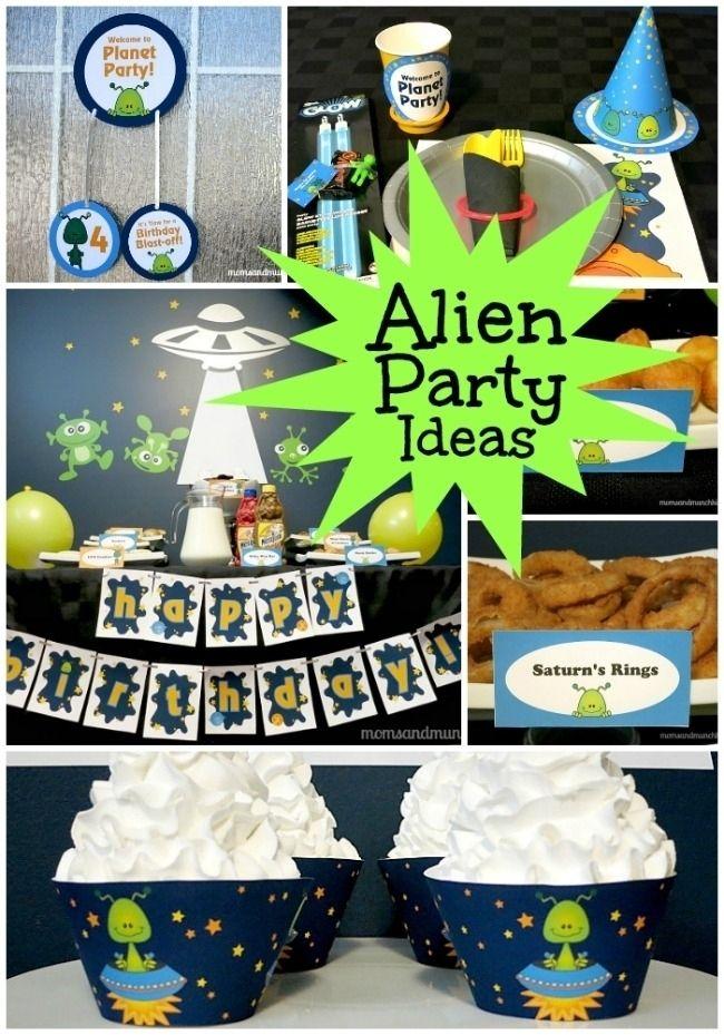 25 Alien Space Themed Birthday Party Ideas Cumpleanos