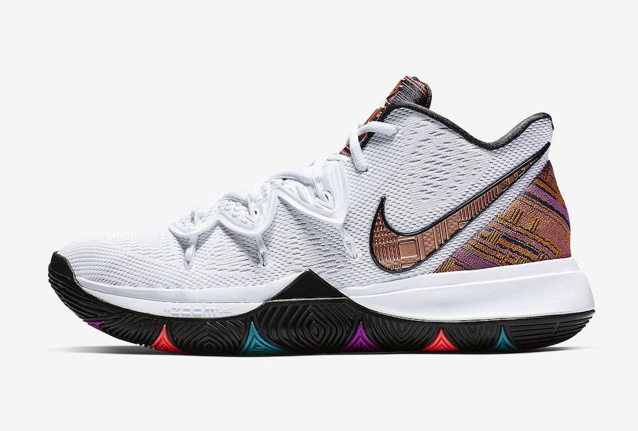 ef92df9ab138 Nike Kyrie 5 BHM Black History Month BQ6237-100 Release Date