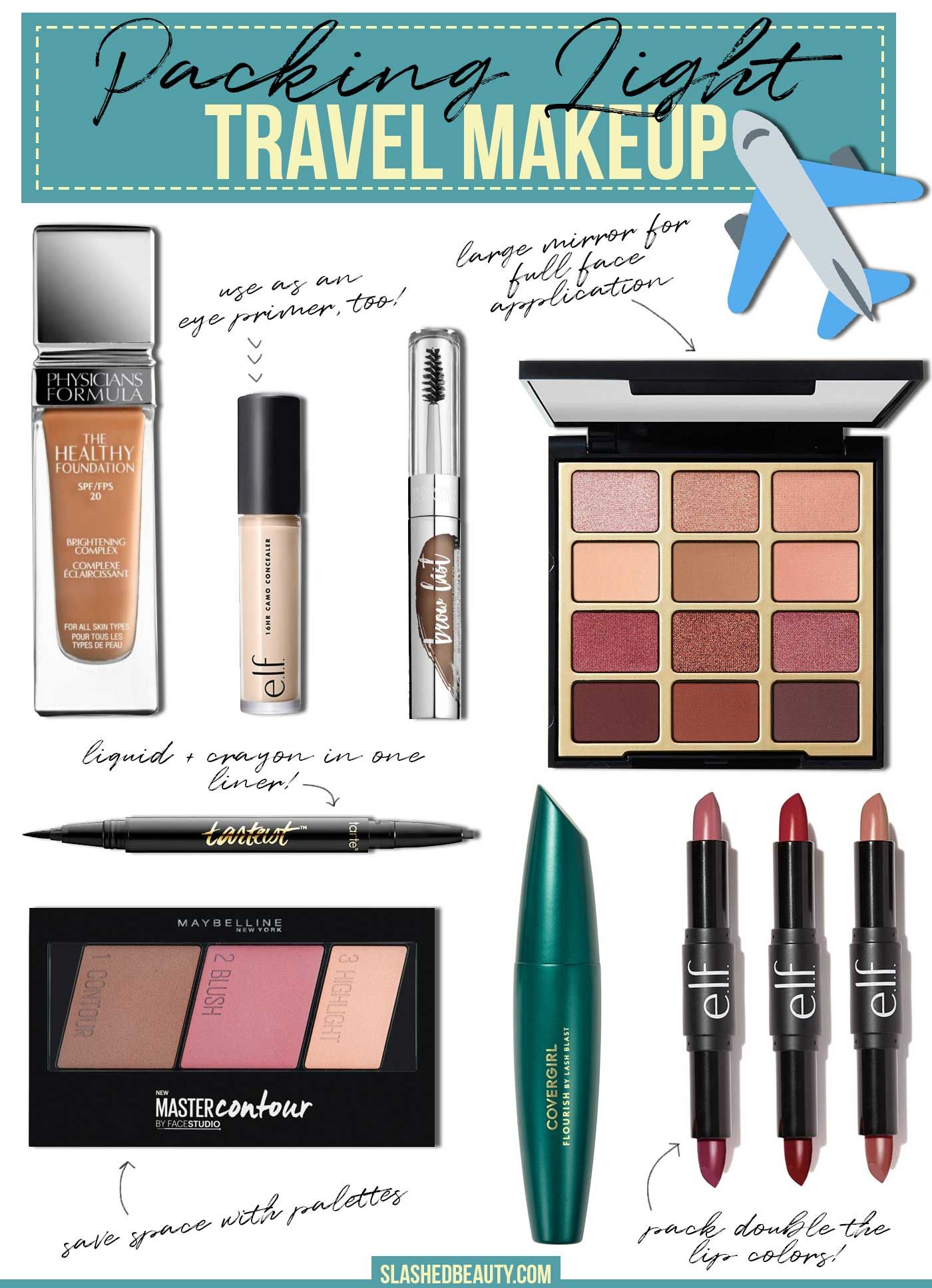 MustHaves for Packing a Light Makeup Bag for Travel