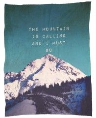 Mountain is calling-Fleecedecke