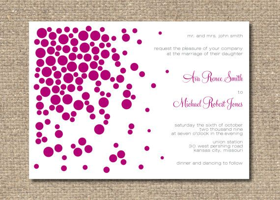 Ava Printable Wedding Invitation Suite by moderninkstudio on Etsy, $35.00