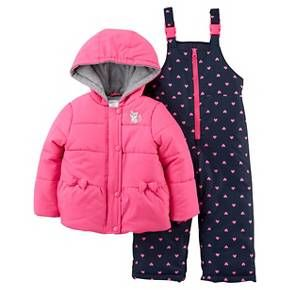 33ef247ac960 Just One You™Made by Carter s® Girls  2 Piece Snowsuit Set - Pink ...