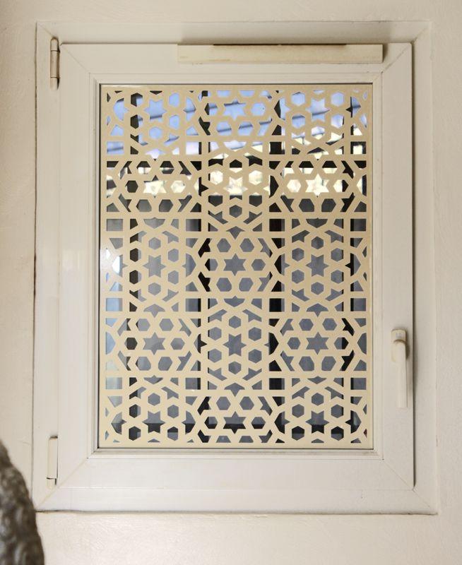 Ds246 sticker moucharabieh fen tre deco vitres salle de bain pinterest moucharabieh - Vitre salle de bain ...