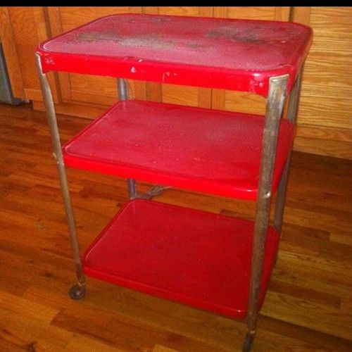 Details About Vintage Red Cosco 50 S Kitchen Metal