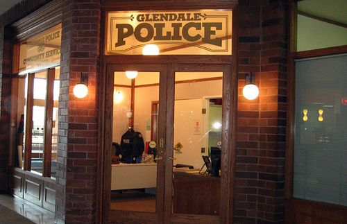 The Infamous Unchanging Glendale Police Station Inside Of The Glendale Galleria Glendale Ca Glendale Glendale Galleria Police Station