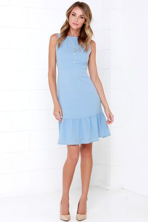 bfbc8b55d Dee Elle Ooh La La Light Blue Midi Dress in 2019 | Dresses | Light ...