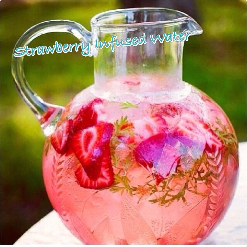 how to make strawberry infused water