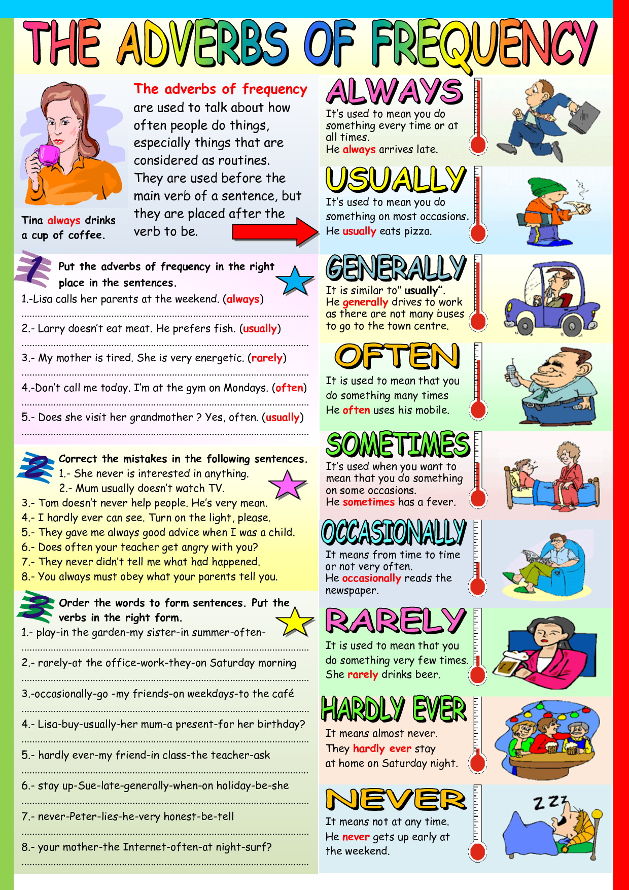 Adverbs Of Frequency Adverbs Teaching English Grammar English Words [ 1754 x 1240 Pixel ]