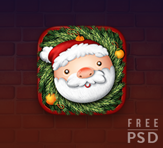 FREE PSD CHRISTMAS APP ICON Christmas apps, App icon, App