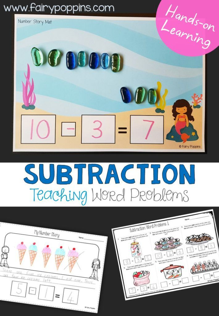 Number story work mats, task cards and worksheets that help kids ...