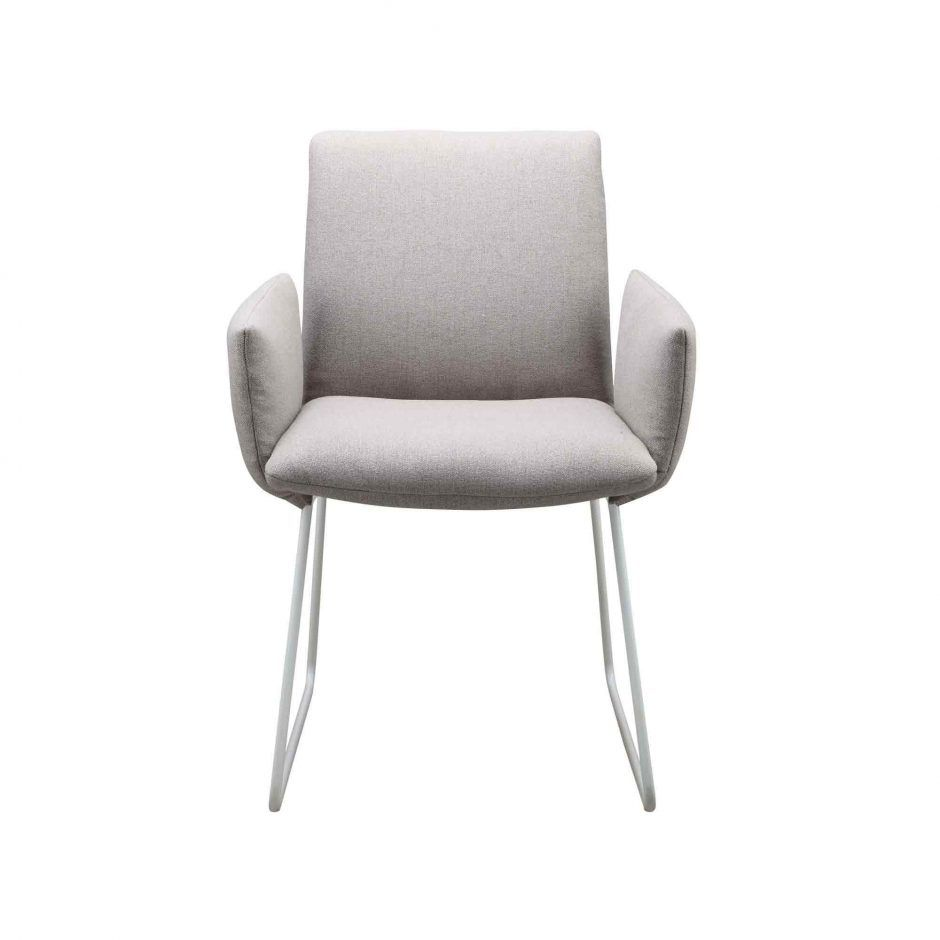 Evora Arm Chair Light Grey Dining Chairs Moe S Wholesale