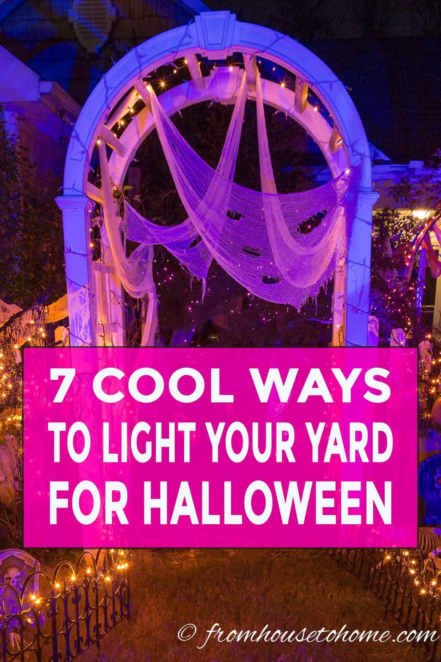 Halloween Outdoor Lighting: 7 Spooky Ways To Light Your Yard ...