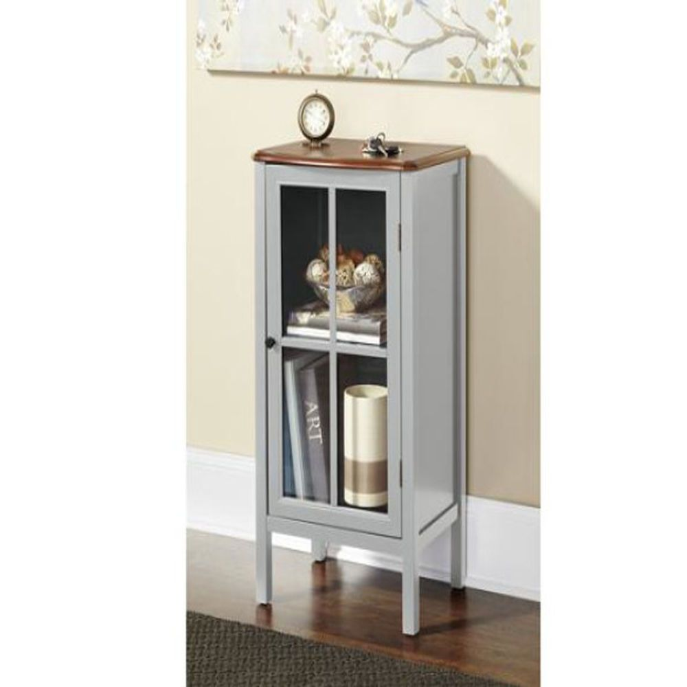 Foyer Corner Cabinet : Entryway room corner table glass door cabinet books albums