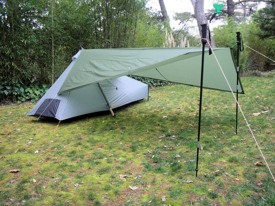 diy tent vestibule with tarp and hiking poles & diy tent vestibule with tarp and hiking poles | Tent Camping ...