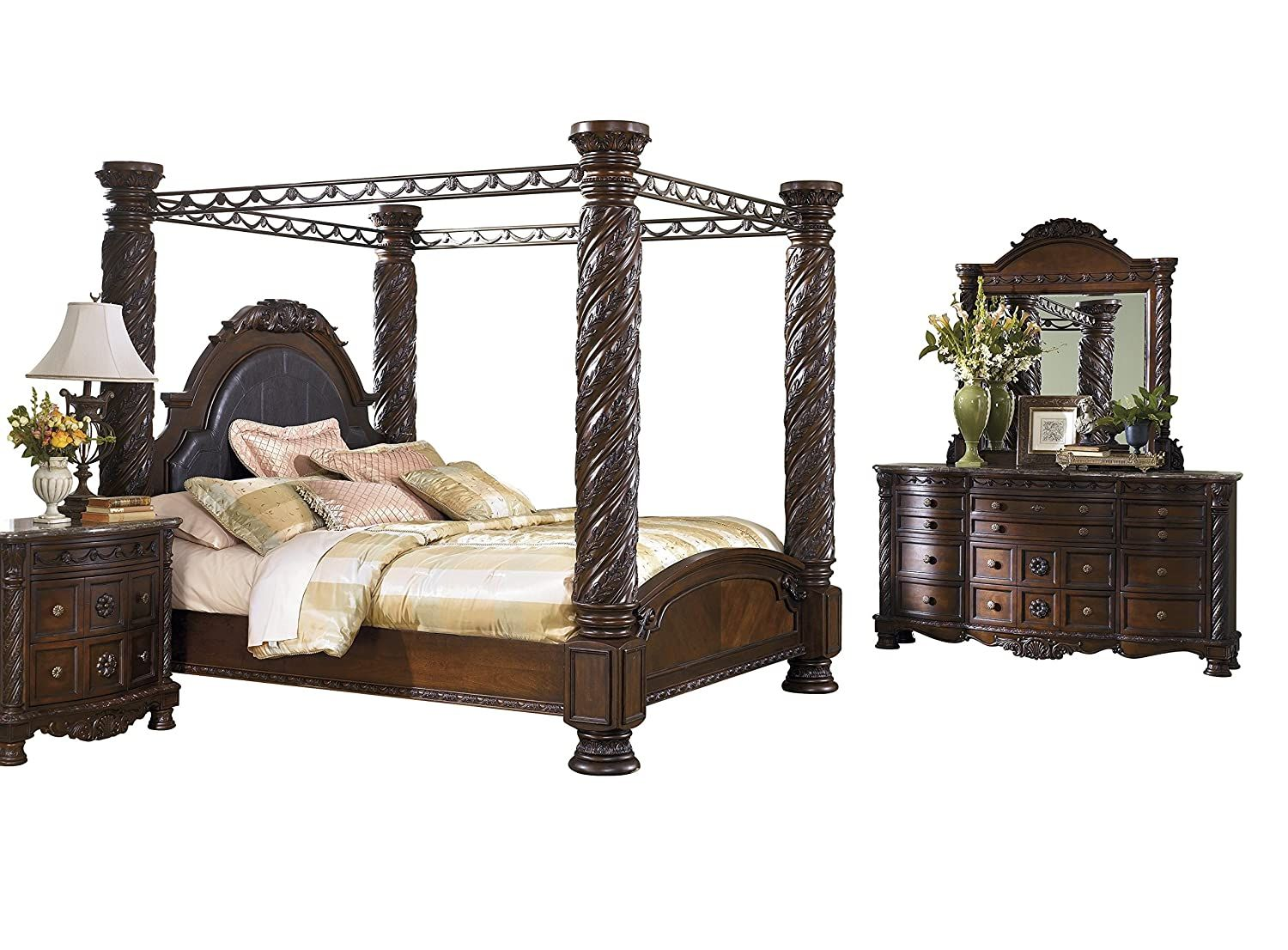 Ashley North Shore 4PC Bedroom Set E King Poster Canopy
