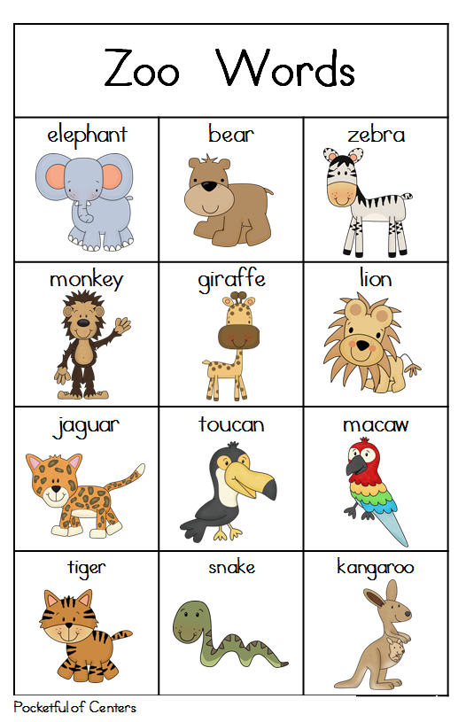 Zoo Writing Center Zoo preschool, Preschool activities