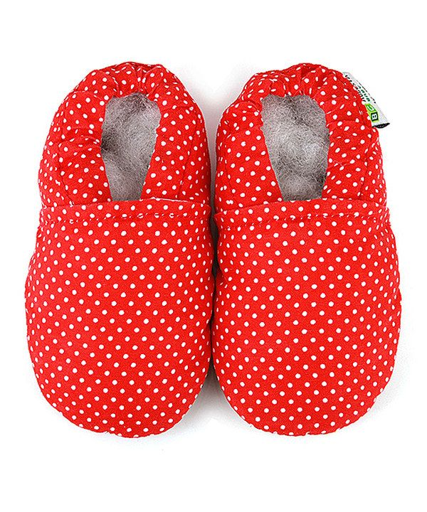 Take a look at this Augusta Baby Red Polka Dot Booties on zulily today!