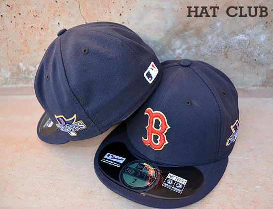 Boston Red Sox 2013 World Series Patch Fitted Cap by NEW ERA x MLB   HAT  CLUB 34ea4a0d28d