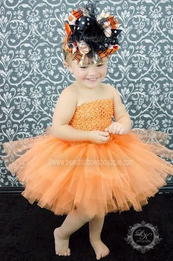 d3aaed362f166 DETAILS: -This listing is for the Solid #Orange Tulle Tutu Dress for  newborn babies, infants, and toddlers with optional bow headband.