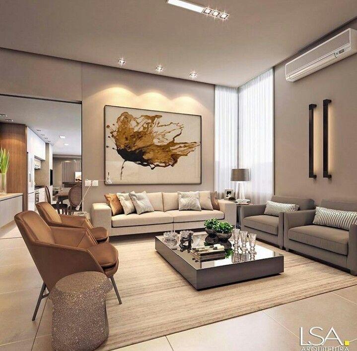 Pin de marcela luzuriaga en decorar tu casa wohnzimmer Decoracion living comedor departamento