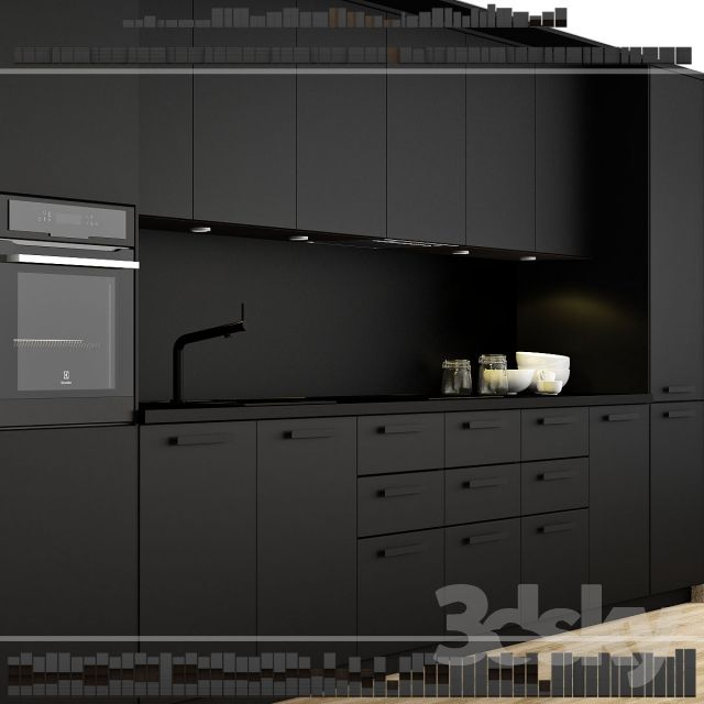 ikea kitchen kungsbacka method wohnen pinterest k che moderne k che und k che schwarz. Black Bedroom Furniture Sets. Home Design Ideas
