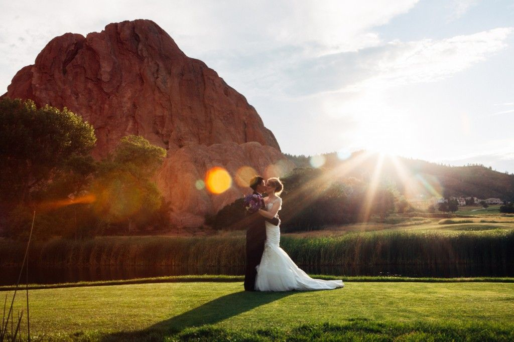 Wedding at Arrowhead Golf Course. Amazing sunset photos of bride and ...