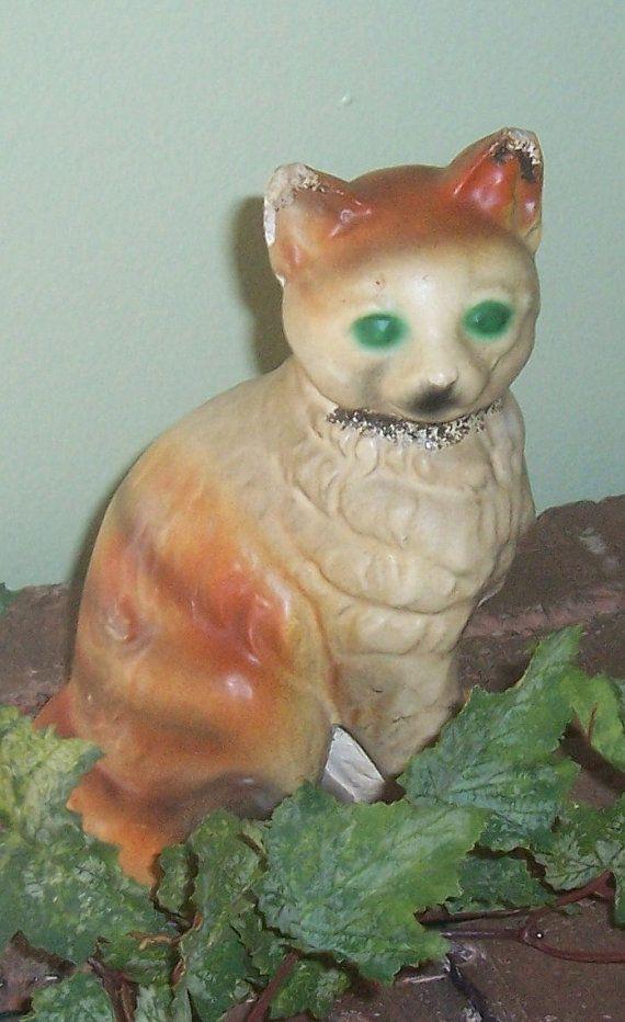 vintage chalkware cat carnival by mstookesmuzes on Etsy, $8.00