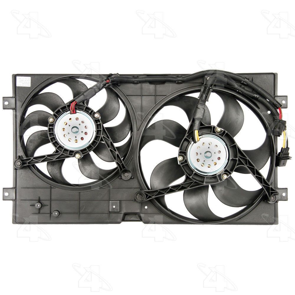 Dual Radiator And Condenser Fan Assembly Rad Cond Fan Assembly Fits Beetle Cars Trucks Graphic Card Volkswagen Beetle