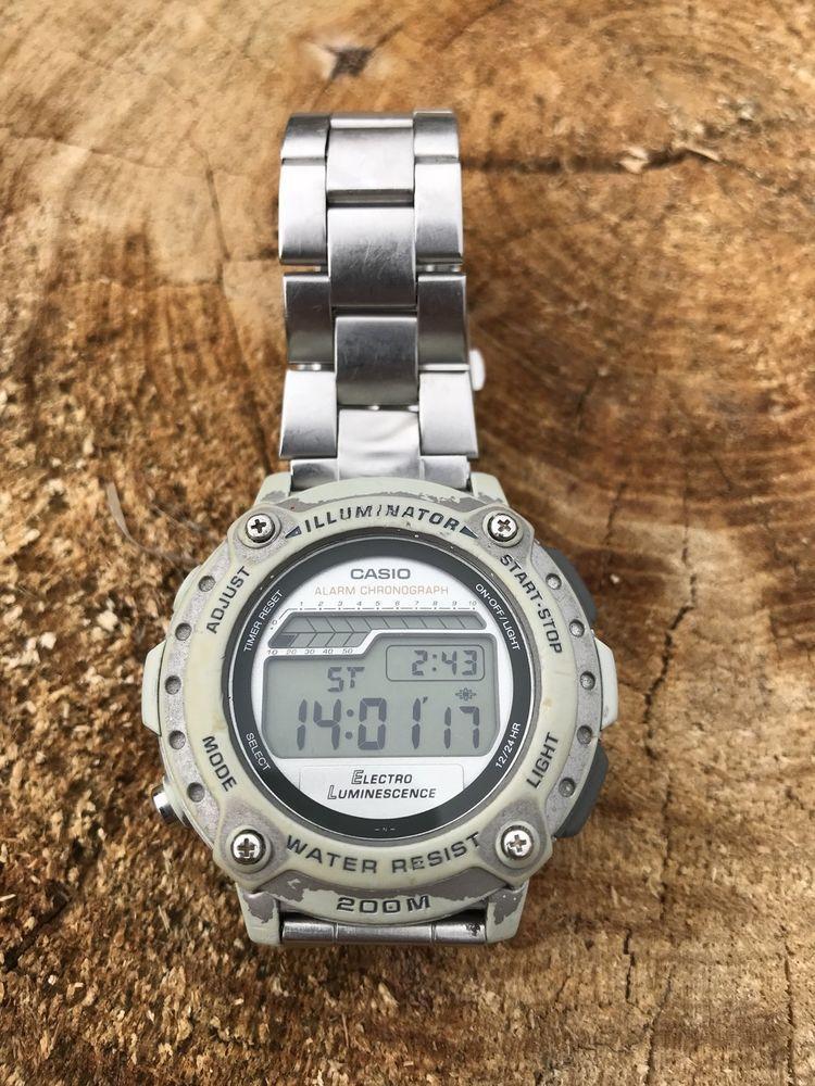 CASIO DW-285 1848 Divers Watch Vintage Rare Alarm Chronograph Illuminator  Wr 200  4b4ba930863