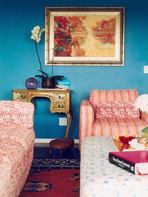 Expertsu0027 No-Fail Color Schemes Kobaltblau, Türkis und Wohnzimmer