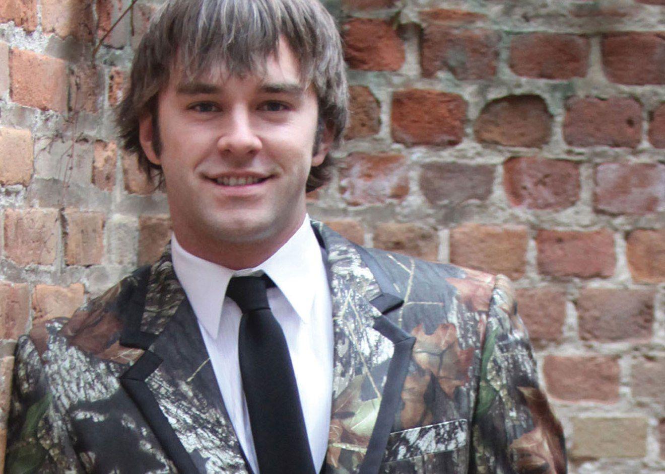 Camo formal suit jacket formal sportsman camo camo vest zoom1