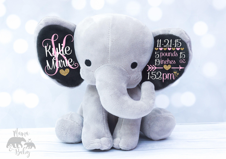 081f86dd9ecf94 Baby Girl s Birth Stat Elephant