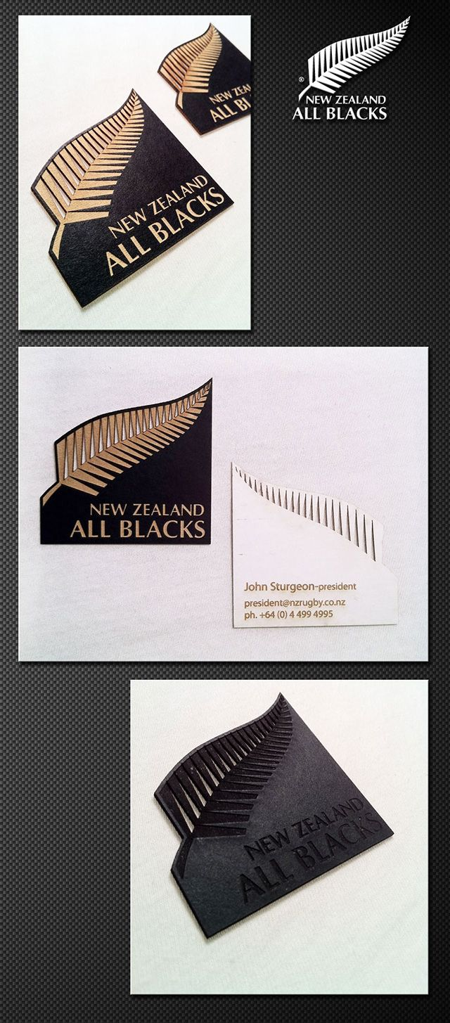 Unique shape business cards sample created for New Zealand All ...