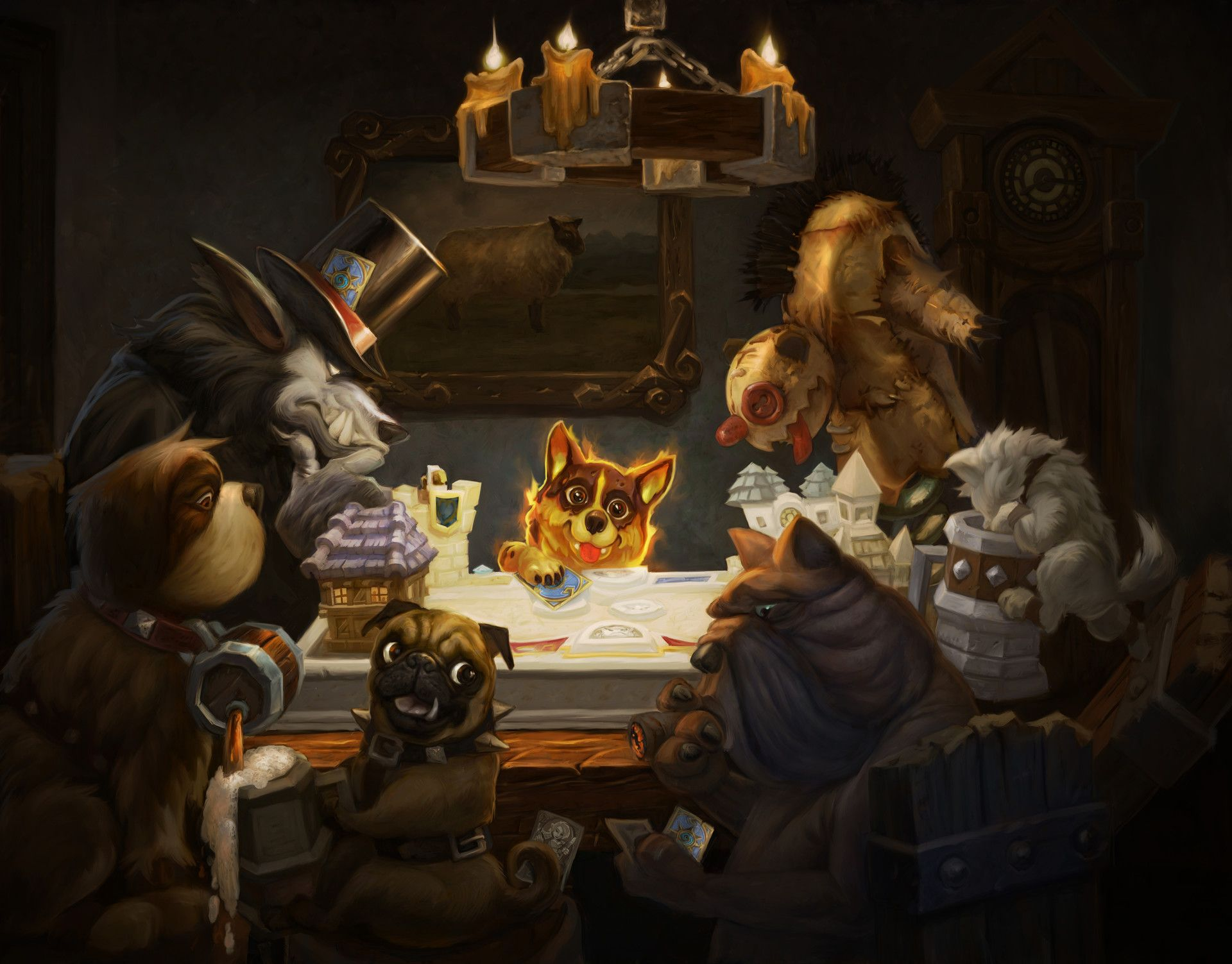 ArtStation - Dogs Playing Hearthstone, Eric Browning