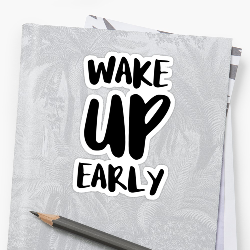 'Give it Your All' Sticker by FTML How to wake up early