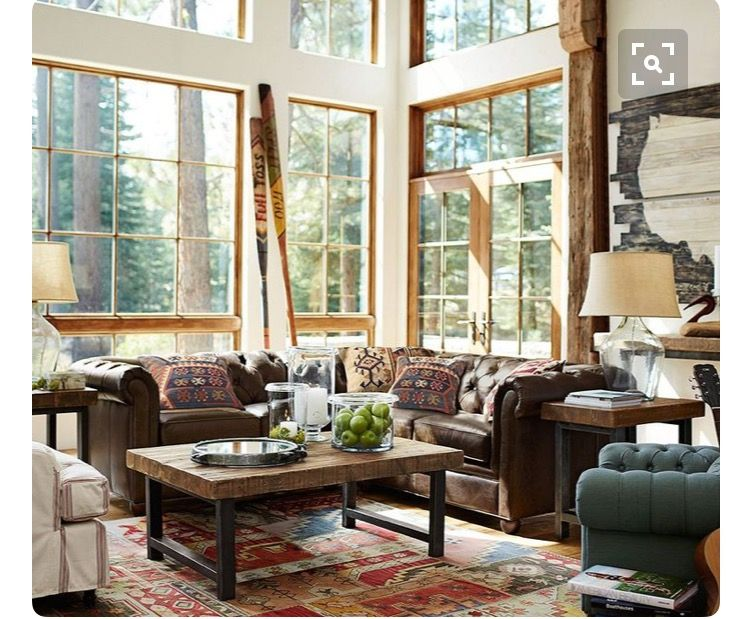 pottery barn furniture  living room leather pottery barn