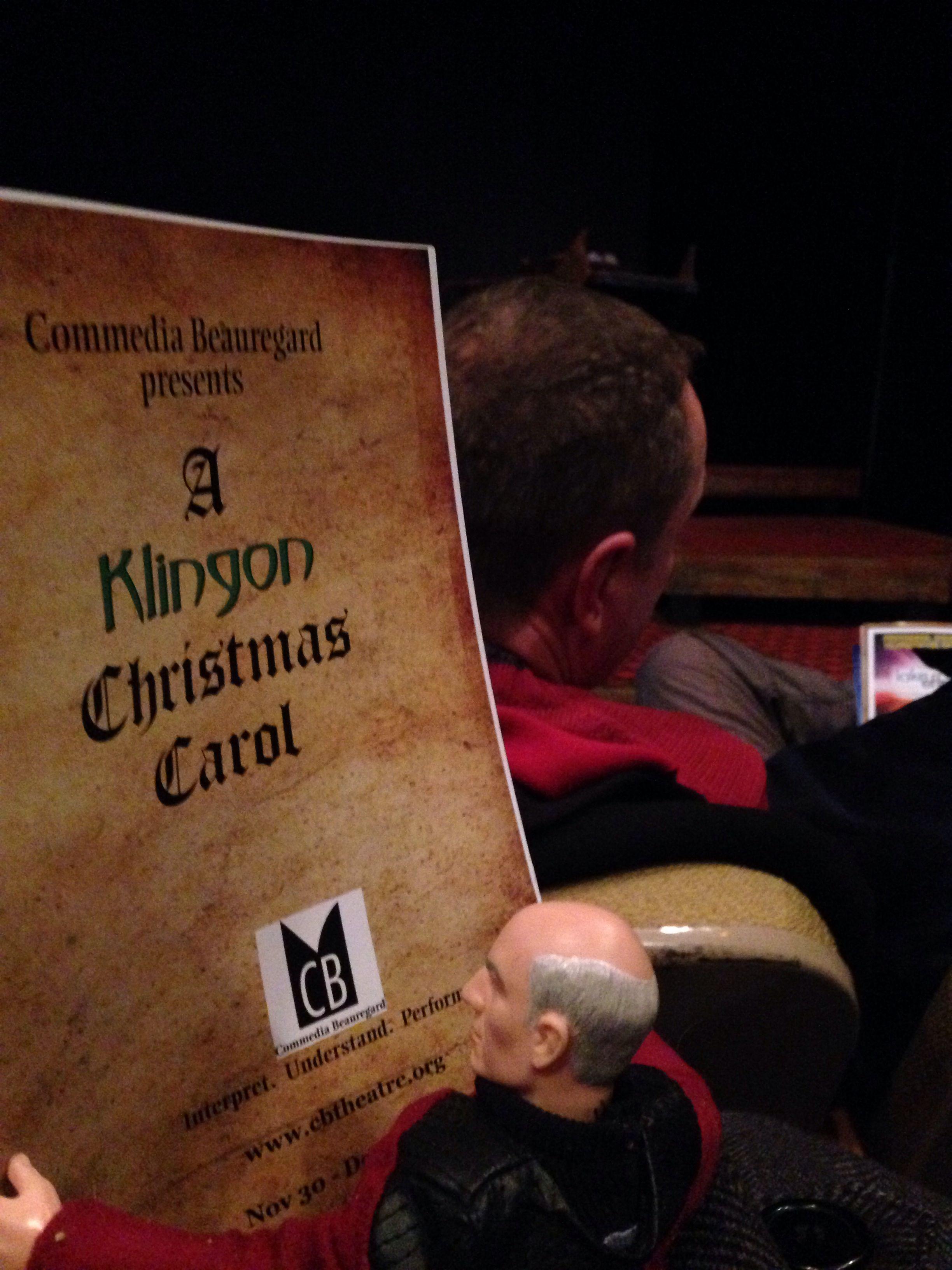 Enjoying another performance of A Klingon Christmas Carol ...