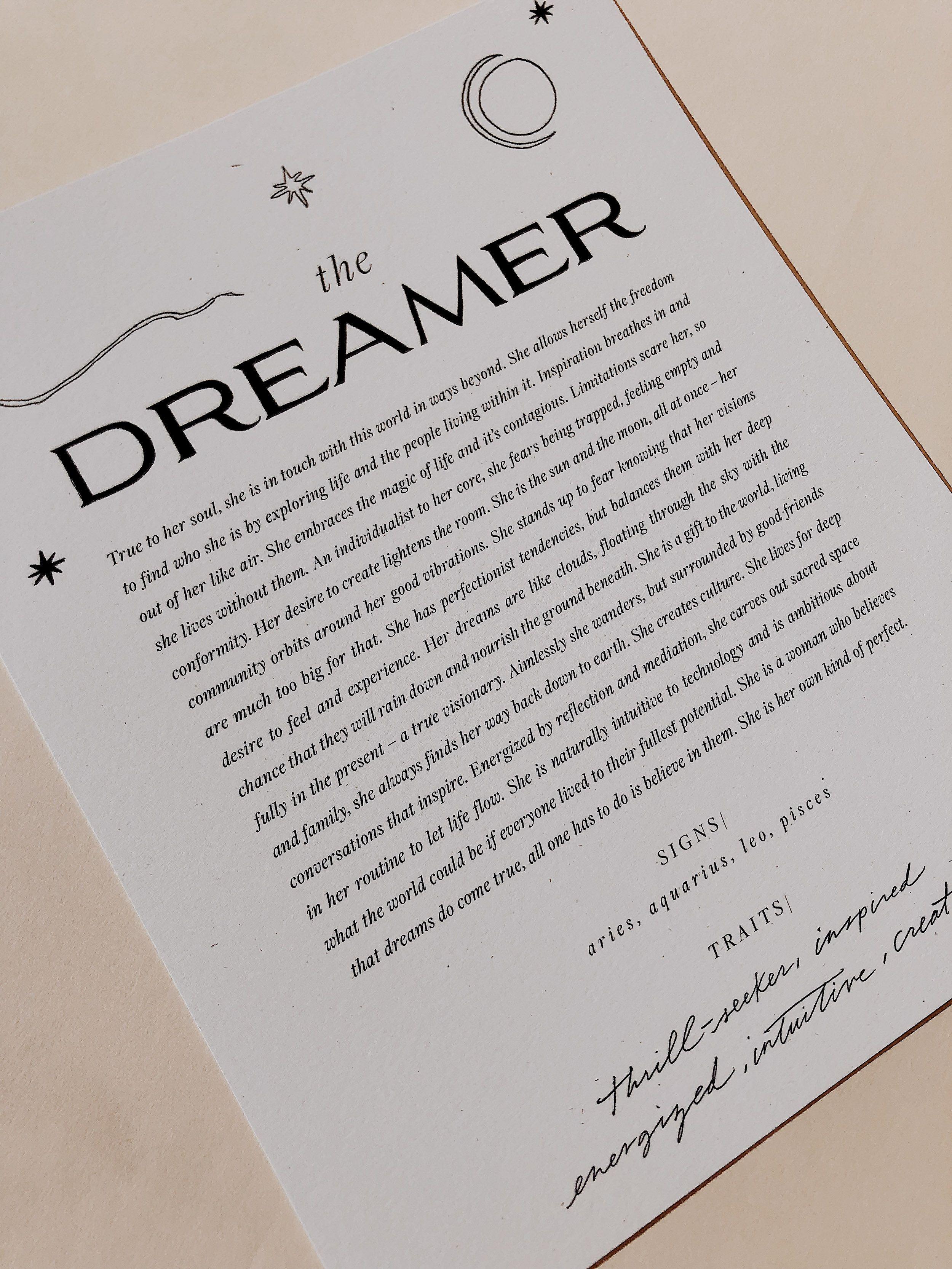 The Dreamer Art Print Wilde House Paper The Dreamers Art Prints Art
