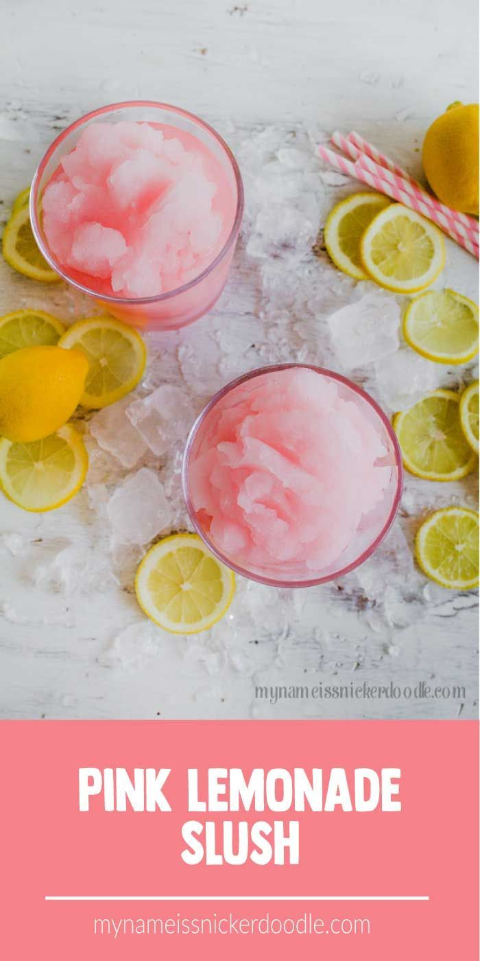 Pink Lemonade Slush Recipe #lemonadepunch