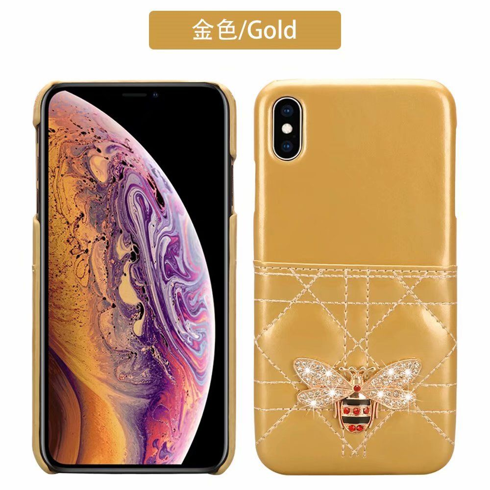 Gold gucci card diamond phone case for iphone xs max