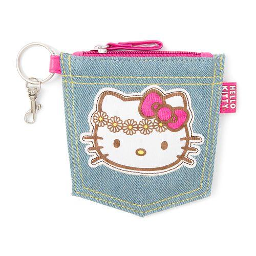 Hello Kitty Daisy Jean Pocket Coin Purse | Claire's
