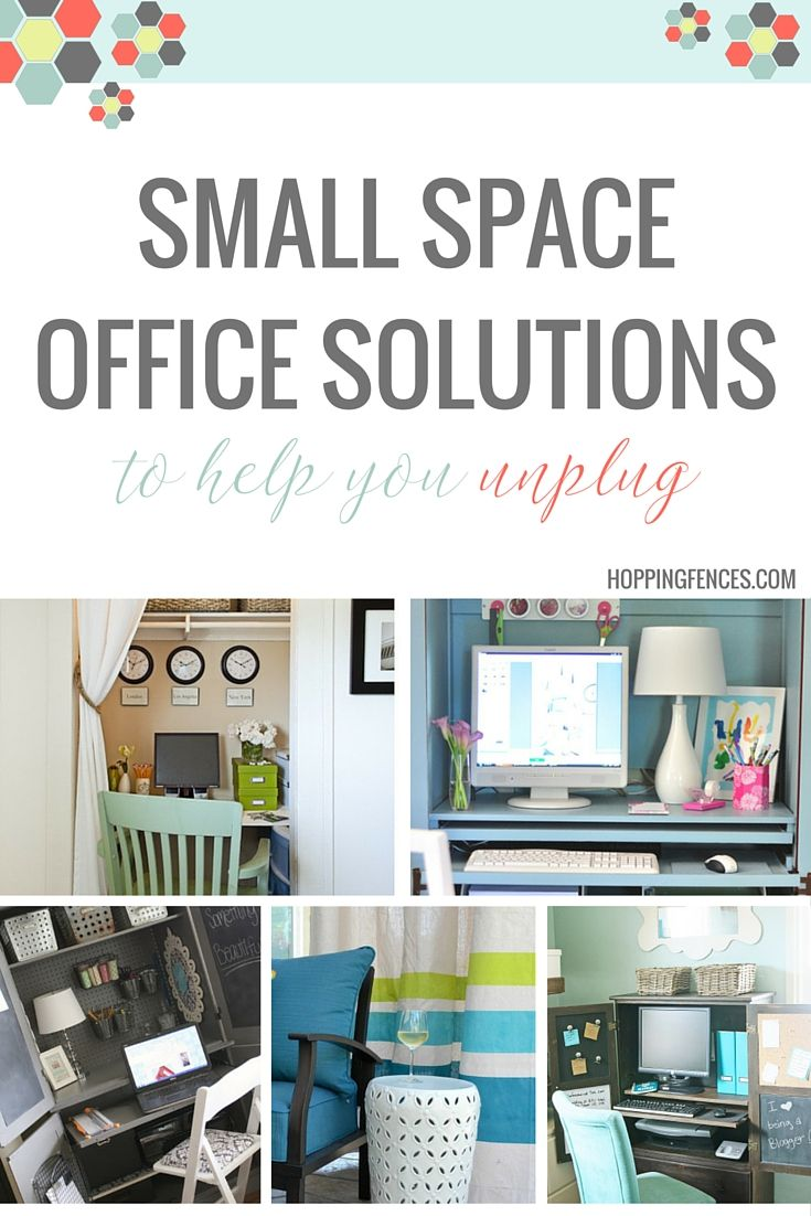 """I find it so useful to be able to """"walk away"""" from my home office at the end of the day. I do this by separating my office space from my living space. Even if you're scrunched on space, there are some wildly effective ways to divide your office so you can unplug and unwind. If you work from home, you're going to want these tips! Click through or pin for later! :)"""