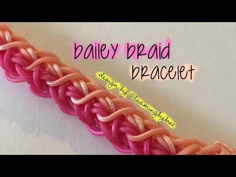 Bailey Braid Rainbow Loom Bracelet Tutorial Loominitup Youtube