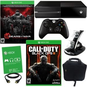 #17691081 Xbox One 500GB Gears of War Ultimate Edition Bundle with COD Black Ops III and Accessor by sensationaltreasures