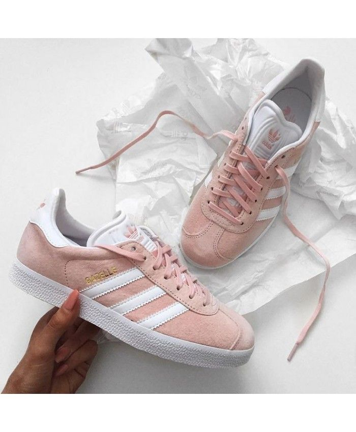 Adidas Gazelle Vapour Pink White Trainer Pink series in the more popular  series, wear is