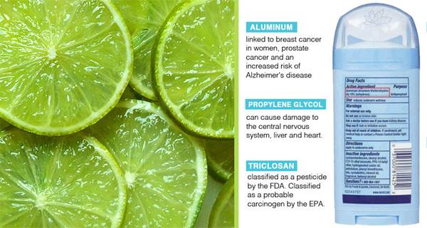 Aluminum In Deodorants Closely Linked To Breast Cancer  Use Lime To