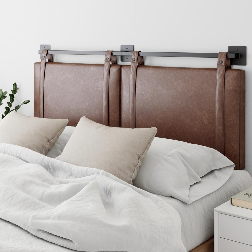 Nathan James Harlow 62 In Vintage Brown Queen Wall Mount Faux