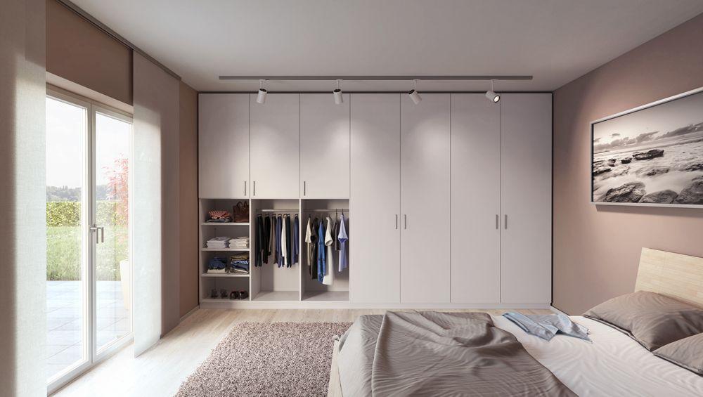 Awesome Der Kleiderschrank im Schlafzimmer passt millimetergenau in die Nische und bietet viel Stauraum f r alle deine