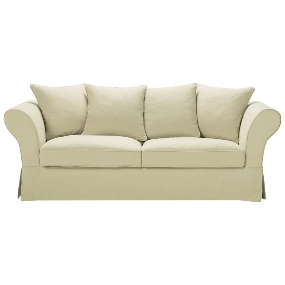 Canape Lit 3 4 Places En Lin Beige Roma Sofa Linen Sofa Sofa Colors