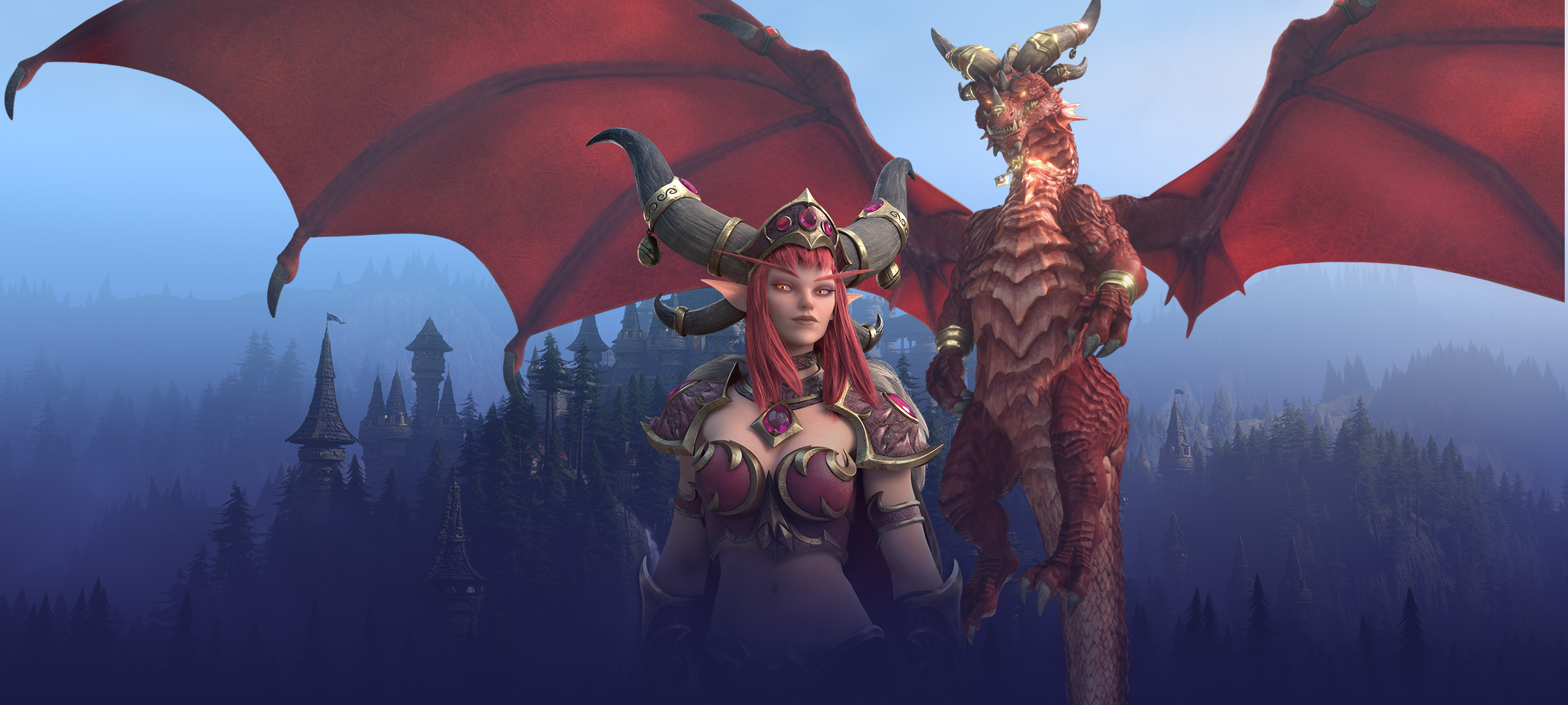 Dragons Of The Nexus Alexstrasza Background Png 2400 1080 Gargoyles Characters Heroes Of The Storm Warcraft Art Alexstrasza, the queen of dragons, was empowered by the titans to be the guardian of all life on azeroth. gargoyles characters heroes